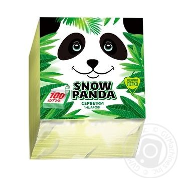 Napkins Snizhna panda yellow paper 100pcs
