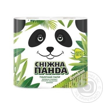 Бумага туалетная Сніжна панда Бамбук 4шт - купить, цены на Novus - фото 1