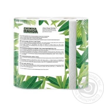 Полотенца бумажные Сніжна панда Extra Long 2шт/уп - купить, цены на Novus - фото 2