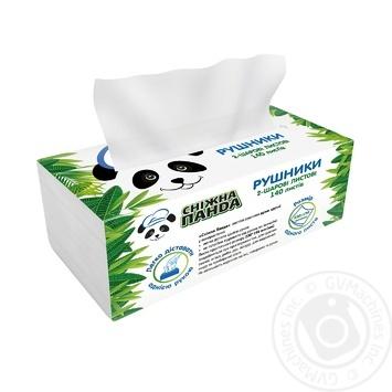 Полотенца бумажные Сніжна Панда двухслойные 140шт - купить, цены на Novus - фото 2