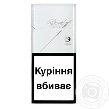 Сигарети Davidoff Silver Slims - купить, цены на Фуршет - фото 1