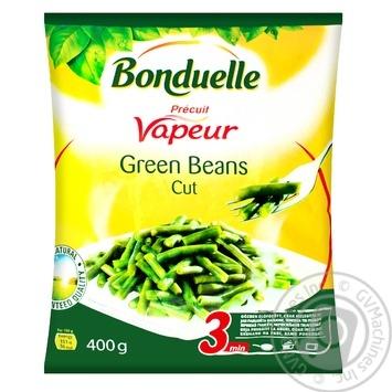 Фасоль Bonduelle зеленая стручковая резаная на пару замороженная 400г - купить, цены на МегаМаркет - фото 1