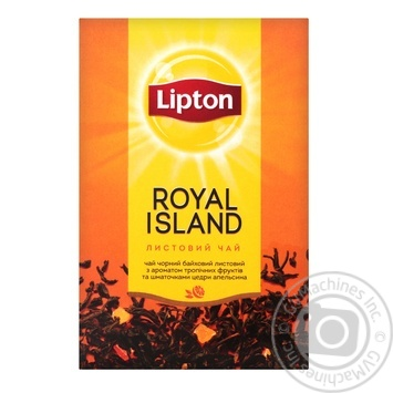 Tea Lipton tropical fruit black loose 80g Ukraine - buy, prices for MegaMarket - image 1