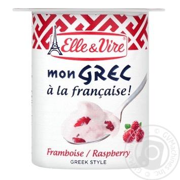 Десерт Elle&Vire Греческий с малиной молочный 8,5% 125г - купить, цены на Восторг - фото 2