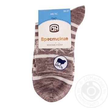 Шкарпетки жіночі 1404 Брестські р.23, 045 капучіно - купить, цены на Novus - фото 1