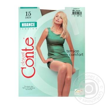 Колготы Conte Nuance 15 Den р.4 bronz шт - купить, цены на Novus - фото 1