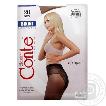 Колготы Conte Bikini 20 Den р.3 natural шт - купить, цены на Novus - фото 1