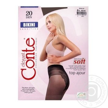 Tights Conte bronze polyamide for women 20den 4size - buy, prices for Novus - image 1