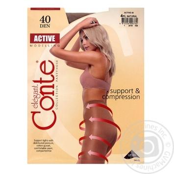 Колготы Conte Active 40 Den р.4 natural шт - купить, цены на Novus - фото 1