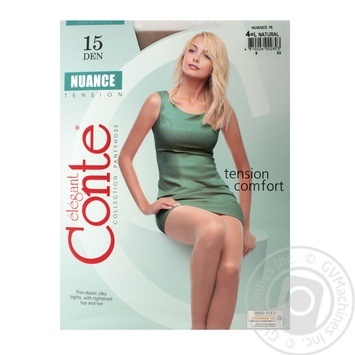 Tights Conte Nuance natural polyamide for women 15den 4size - buy, prices for Novus - image 1