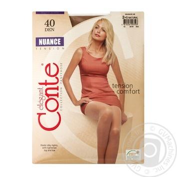 Колготы Conte Nuance 40 Den р.2 natural шт - купить, цены на Novus - фото 1