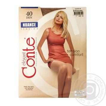 Колготи Conte Nuance 40 Den р.3 natural шт - купити, ціни на Novus - фото 1