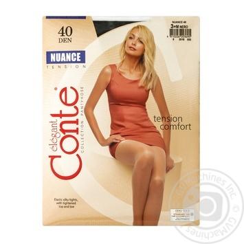 Колготи Conte Nuance 40 Den р.3 nero шт - купити, ціни на Novus - фото 1