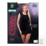 Tights Conte Prestige bronze polyamide for women 20den 2size