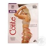 Tights Conte Active natural polyamide for women 20den 2size