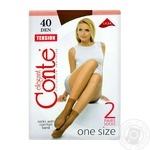 Носки Conte Tension 40 ден женские бронзовые размер 23-25 2 пары