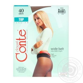 Колготи жiночi Top Conte 40 розмiр 4 bronz - купить, цены на Novus - фото 1