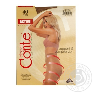 Tights Conte Active natural polyamide for women 40den 2size