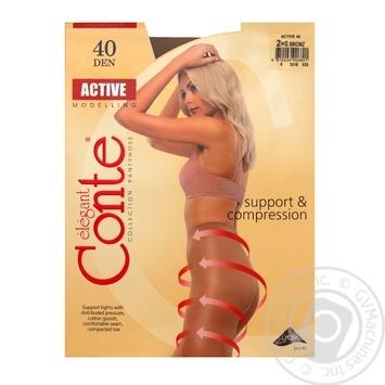 Колготы Conte Active 40 Den р.2 bronz шт - купить, цены на Novus - фото 1