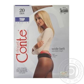 Колготы Conte Top 20 den женские натуральные р.4 - купить, цены на Таврия В - фото 1