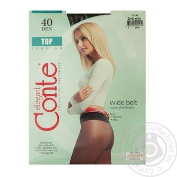 Колготы Conte Top женские 40den nero 3 размер - купить, цены на МегаМаркет - фото 1