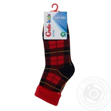Шкарпетки дитячі махрові Sof-Tiki Conte-kids 6С-19СП, розмір 22, 224 червоний