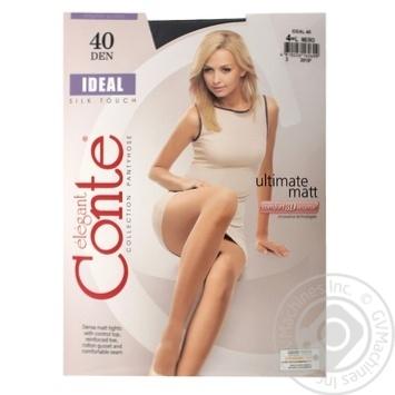 Колготки женские Conte Elegant Ideal 40 nero р.4 шт
