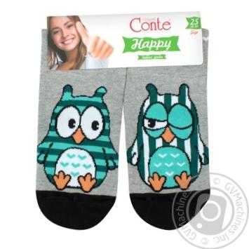 Sock Conte grey for women