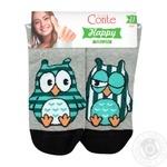 Шкарпетки жіночі бавовняні Conte happy 17С-21СП, розмір 23, 098 сірий