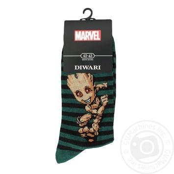 Носки хлопчатобумажные Diwari marvel мужские 27р - купить, цены на Novus - фото 1