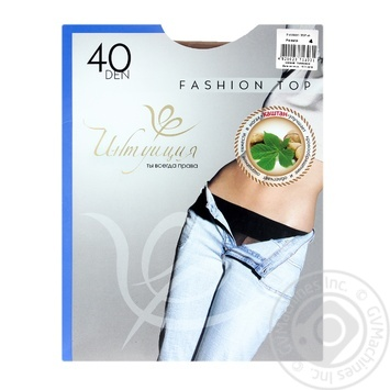 Tights Intuitsia corporal deniers for women 40den 4size - buy, prices for Novus - image 1