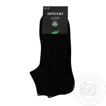 Носки муж Diwari ACTIVE короткие р.29 018 черный пара - купить, цены на Novus - фото 1