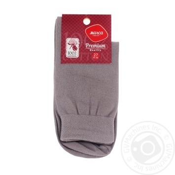 Шкарпетки Marca Premium чоловічі подвійний борт 27р - buy, prices for Auchan - photo 1