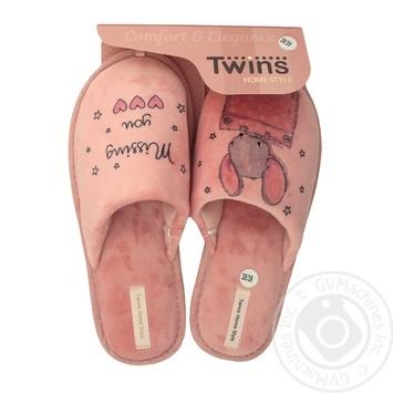 Тапочки Twins женские домашние 38-39р