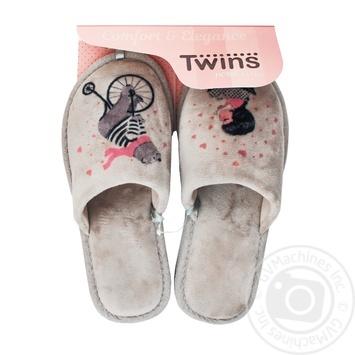 Кімнатні тапочки Twins HS жіночі розмір 36-37 - купити, ціни на Novus - фото 1