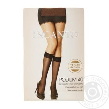 Напівпанчохи жіночі Incanto Podium 40 naturel 2 пари - купить, цены на Novus - фото 1