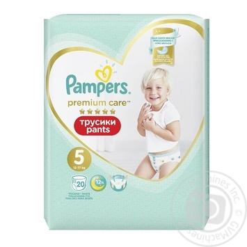 Подгузники-трусики Pampers Premium Care Pants размер 5 Junior 12-17кг 20шт - купить, цены на Novus - фото 3
