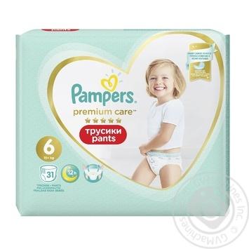 Трусики Pampers Premium Care 15+ кг 6 Extra large 31шт - купить, цены на Метро - фото 2
