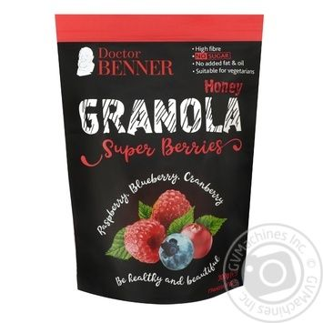 Doctor Benner granola berry 300g - buy, prices for CityMarket - photo 1