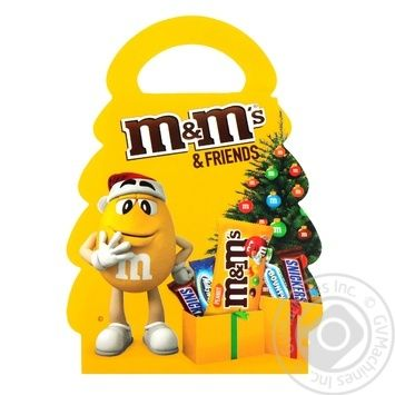 Набор подарочный M&M's & Friends Новогодняя елка 105г - купить, цены на Novus - фото 4