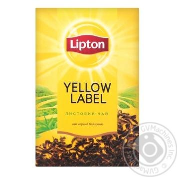Lipton Yellow Label Tea black leaf 80g - buy, prices for Furshet - image 1