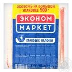 Крабовые палочки Санта Бремор Эконом маркет из сурими замороженные 500г
