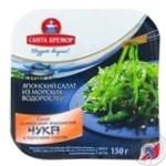 Салат Санта Бремор Чука з морських водоростей с горіховим соусом 150г