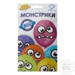 Набор шариков Веселая Затея Монстрики латексные 5шт