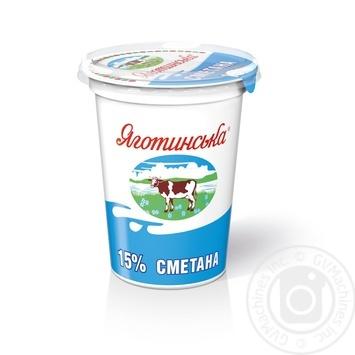 Сметана Яготинская 15% 350г - купить, цены на Novus - фото 1