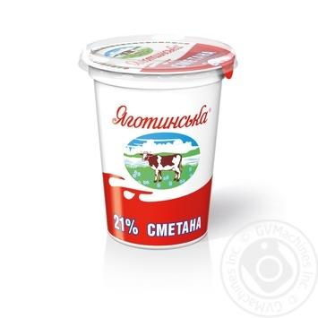 Yagotynske Souce Cream 21% 350g - buy, prices for MegaMarket - image 1