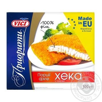 VICI Порции филе хека в панировке 300г - купить, цены на Novus - фото 1