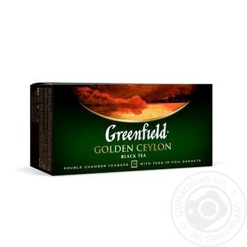 Greenfield Golden Ceylon black tea 25pcs*2g