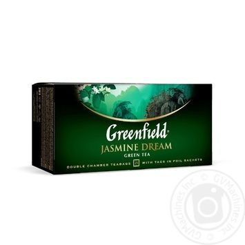 Чай Гринфилд Жасмин Дрим зеленый с жасмином 2г х 25шт - купить, цены на Novus - фото 1