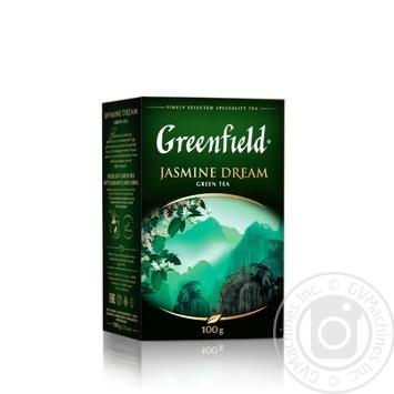 Чай Greenfield Jasmine Dream зеленый с жасмином листовой 100г - купить, цены на Novus - фото 1